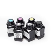 DOMSEM encre UV pour imprimante LED, 250ML, 6 bouteilles, pour Epson 1390, L800, 1400, 1410, 1430 W, R280, R290, R330, L1800, (BK, C, M Y, blanc)