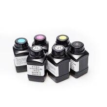 Domsem 250Ml 6 Flessen Veel Uv Inkt Voor Epson 1390 L800 1400 1410 1430 1500W R280 R290 r330 L1800 Led Printer (Bk C M Y Wit)