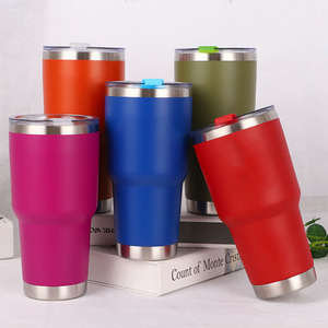 Double Wall Insulation Stainless Steel Tumbler Vacuum Travel Mug Cup Coffee 30oZ