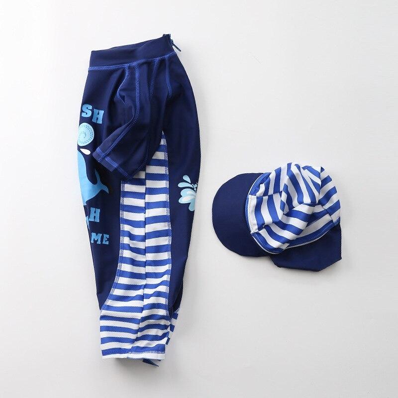 KID'S Swimwear One-piece BOY'S New Style Japanese And South Korean Style Infant Boy Navy Blue Whale Swimwear Baby Swim Bathing S