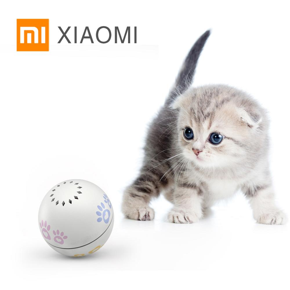 XIAOMI MIJIA Smart Cat toy ball Petoneer pet products kitten toy balls catnip Automatic red dot funny cat playing USB charging(China)