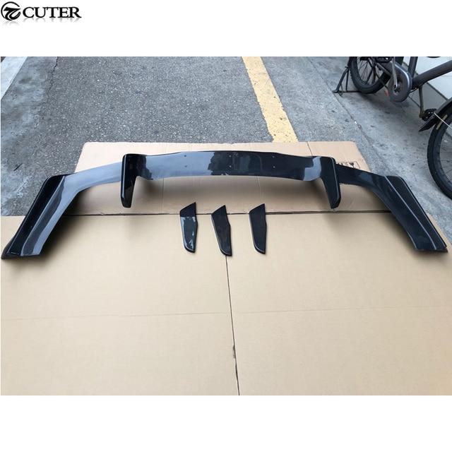 Para AMG GT R estilo de fibra de carbono para difusor de parachoques trasero labio para Benz AMG GT kit de carrocería de coche 15-16