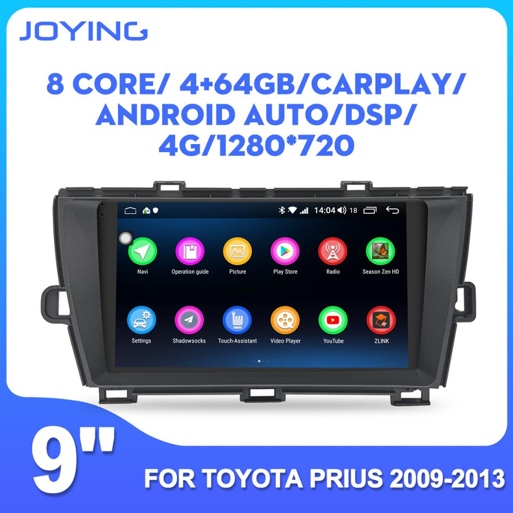 9'' IPS Android car head unit radio for Toyota Prius 2009 2010 2011 2012 2013 car stereo multimedia player GPS tape recorder image