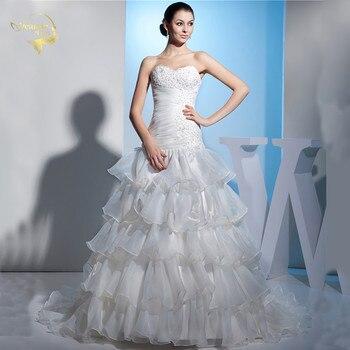 Jeanne Love New Hot Wedding Dresses 2019 Casamento Bridal Gown Organza Tiered Robe De Mariage Vestido De Novia JLOV75915
