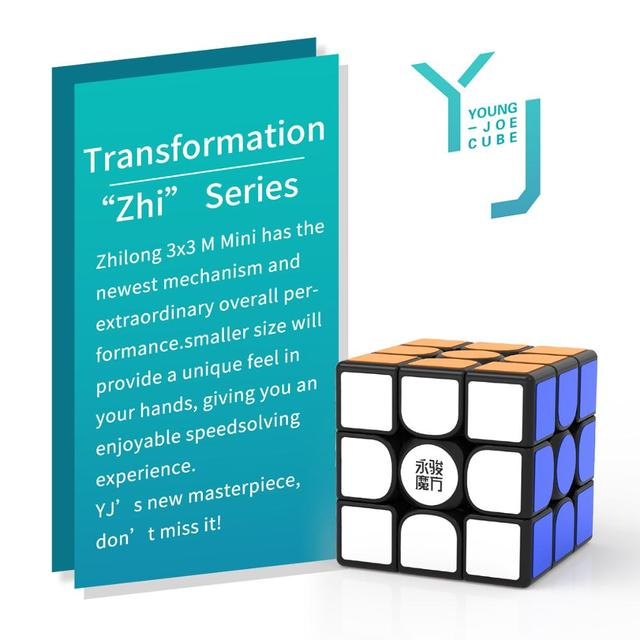 Original YJ Zhilong Mini 3x3 M 4x4 M 5x5 M Magnetic Speed Cubes Small Size YongJun Zhilong Magico Cube Puzzle Toys Magnetic Cube 5