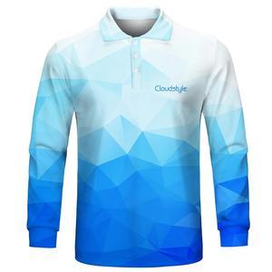 Image 2 - 2020 ファッション男性のポロシャツカジュアル男性ポロシャツ 3D プリント長袖ターンダウン襟通気性のポロシャツ