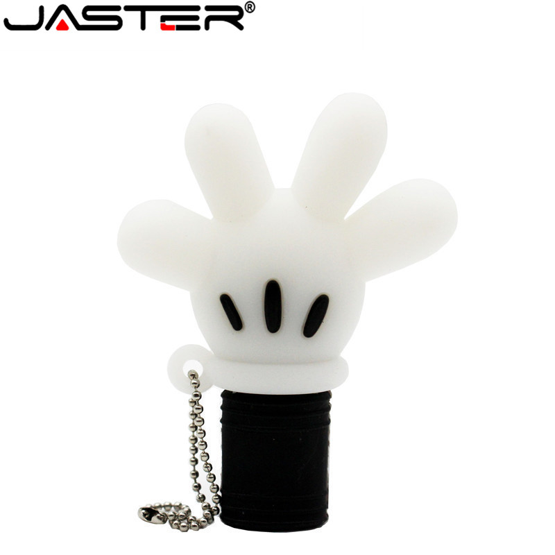 JASTER Cute Mickey Hand Pen Drive Mickey Mouse Glove Usb Flash Drive Pendrive 4GB 8G 16GB 32GB 64GB Cartoon Animal Cat Palm Gift