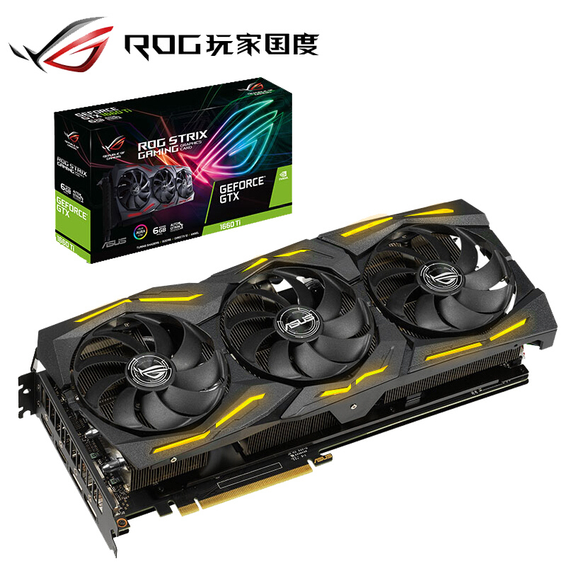 Asus Graphics-Card Computer-Game Gtx1660ti 6g DDR6 Discrete title=