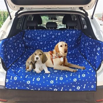 Dog Car Seat Cover  Waterproof Pet Dog Travel Mat Mesh Dog Carrier Car Hammock Cushion Protector With Zipper and Pocket 7