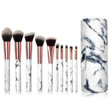 Beauty Tools 10 Makeup Brush Set Marble Pattern Makeup Brush 5 Big 5 Small Explosive Makeup Brushes New