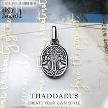 Pendant Stylised Tree Oval,2020 Summer Romantic Fashion 925 Sterling Silver Jewelry Europe Mystical Dimension Gift For Woman