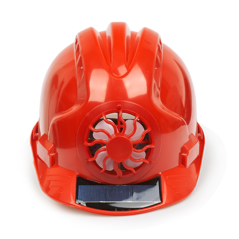 Solar Power Fan Safety Helmet Outdoor Working Safety Hard Hat Construction Workplace ABS Material Protective Cap Powered By Sola