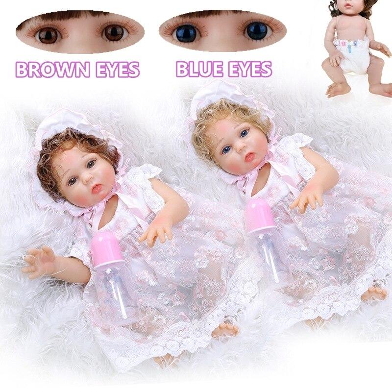 47cm Reborn Baby Puppe Weichen Silikon Tuch Körper Reborn Puppe Neugeborenen Playmate Beruhigende Kinder Spielzeug Realistische Puppe Weihnachten Geschenke
