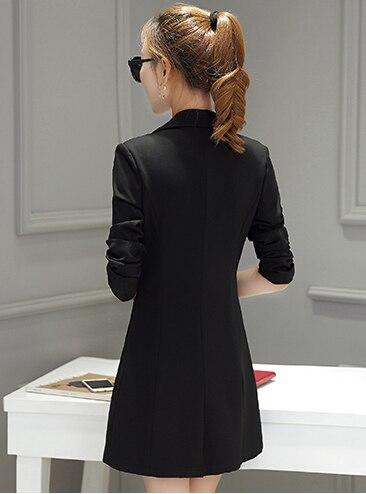 New Blazer Women Autumn Slim Casual Women Suits Long Single Button Red Women Blazers And Jackets Hot Sale LX515