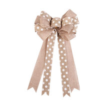 Imitation linen Christmas Bow Pendant Christmas Decorations Bow 2019 High Capacity Support Wholesale Dropshipping Hot Selling(China)