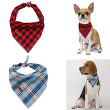 Unique Style Paws Christmas Dog Cat Bandana Accesseries Pet Product Gift for Bandage Collar Plaid