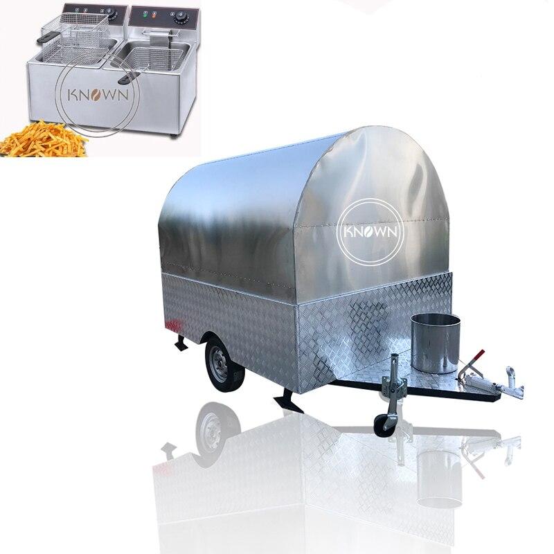 Free Fryer Full Stainless Steel Body 2.2m Long Snack Food Trailer