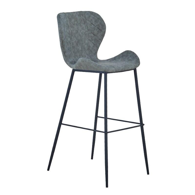 European Style Iron Bar Chair Modern Simple Bar High Stool Back Bar Stool Front Desk Cash Register High Stool Household