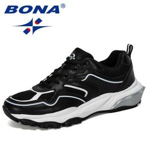 Image 2 - BONA 2019 New Designer Running Shoes Men Sports Outdoor Increased Bottom Sneakers Walking Athletic Shoes Man Jogging Footwear