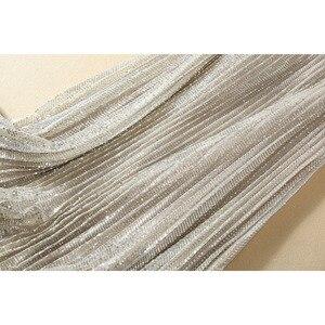 Image 5 - Chemise imprimée à manches longues, pour femme, ensemble élégant, jupe plissée pailletée, de haute qualité, 2020