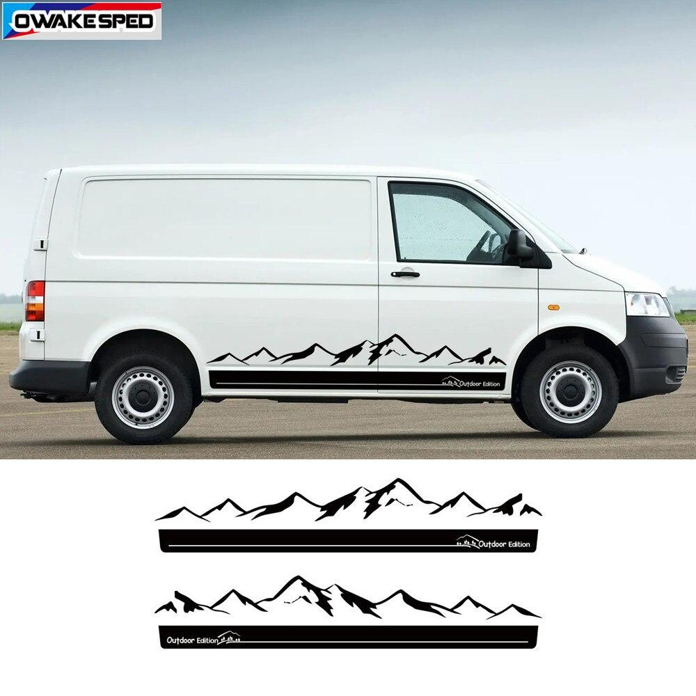 OceanAutos Adesivo per Auto per VW Multivan T5 T6,2pcs///Adesivi per la/Messa a Punto/del Corpo Vettura California Edition Side Stripe Auto Vinyl Decal Styling
