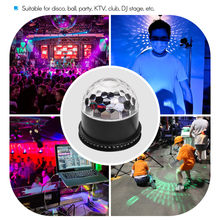 LED Disco Ball Flash Strobe Magic Stage Light Effect Dance Floor Laser Show Rotating Head RGB Disco DJ Party Lamp(China)