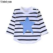 Unini-yun/ г. Модная брендовая одежда для девочек с принтом воздушных шаров хлопковые футболки с длинными рукавами и принтом Радужная одежда для маленьких девочек