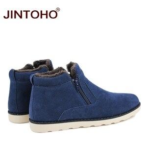 Image 4 - JINTOHO موضة جديدة الشتاء حذاء رجالي أحذية الثلوج غير رسمية رخيصة الشتاء الرجال الأحذية جلد الغزال أحذية للرجال الشتاء الدافئة أحذية رياضية