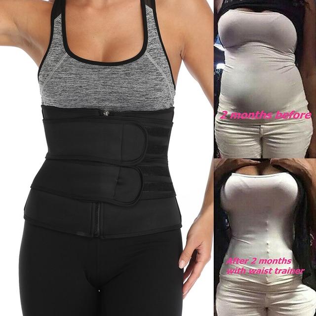 Fajas Reductoras Moldeadora Neopreno Sauna Waist Trainer Body Shaper Corset Sweat Belt Weight Loss Compression Trimmer Workout 3