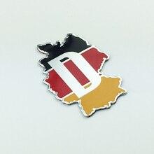 Автомобильная наклейка, немецкий флаг местности, алюминиевое крыло багажника, украшение кузова автомобиля для bmw e46, e90, e60, f10, Volkswagen, Audi, аксес...