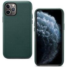 Funda trasera de cuero PU para iPhone 11 Pro Max, carcasa protectora oficial, delgada, de negocios