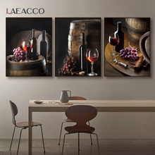 Laeacco Kitchen Bar Home Decor Canvas Poster Still Life Painting Nordic Wall Art Print Picture Livingroom Dining Room Decoration