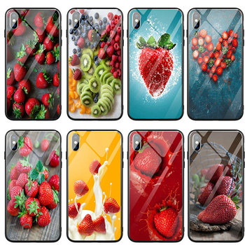 Shoes Tempered Glass Phone Cases for iPhone 5 5S SE 2020 6S 6 Plus 7 7Plus Coque Roasted Strawberry Rhubarb Agua Fresca image