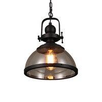 American Loft Retro Industrial Kitchen Dining Bar Pendant Light lamps Glass Living Room Restaurant Home Lighting Fixtures Deco