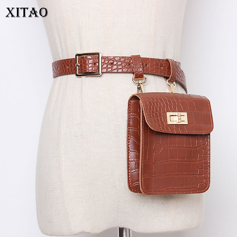 XITAO 2020 Spring New Fashion Belt Bag Mini Corset Belt For Women Streetwear Wild Leather Accessories Women Trend Girdle GCC3193