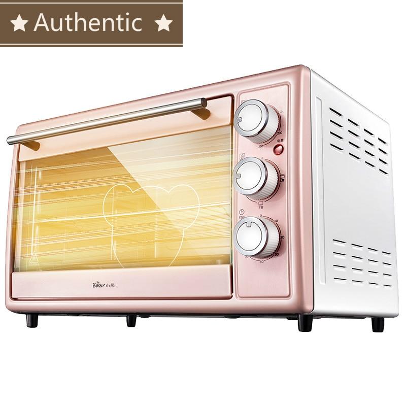 Authentique 30L rose multifonctionnel automatique électrique four gâteau fabricants acier inoxydable 4 indépendant chauffage tube 60min timing