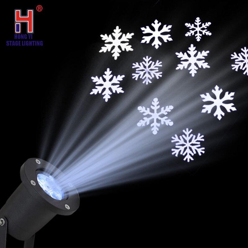Christmas Lights Outdoor LED Snowflake Projector Light Mini Led Light Auto Snowflake Lasers Christmas Lights