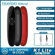 Boeleo K1 Lite traducteur vocal intelligent Portable en temps réel 42 langues 3 en 1 AI ASSISTANT texte précis Stock de traduction