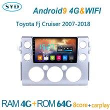 car radio for Toyota FJ CRUISER 2007 2018 DVD multimedia player GPS navigator coche audio auto stereo autoradio android central