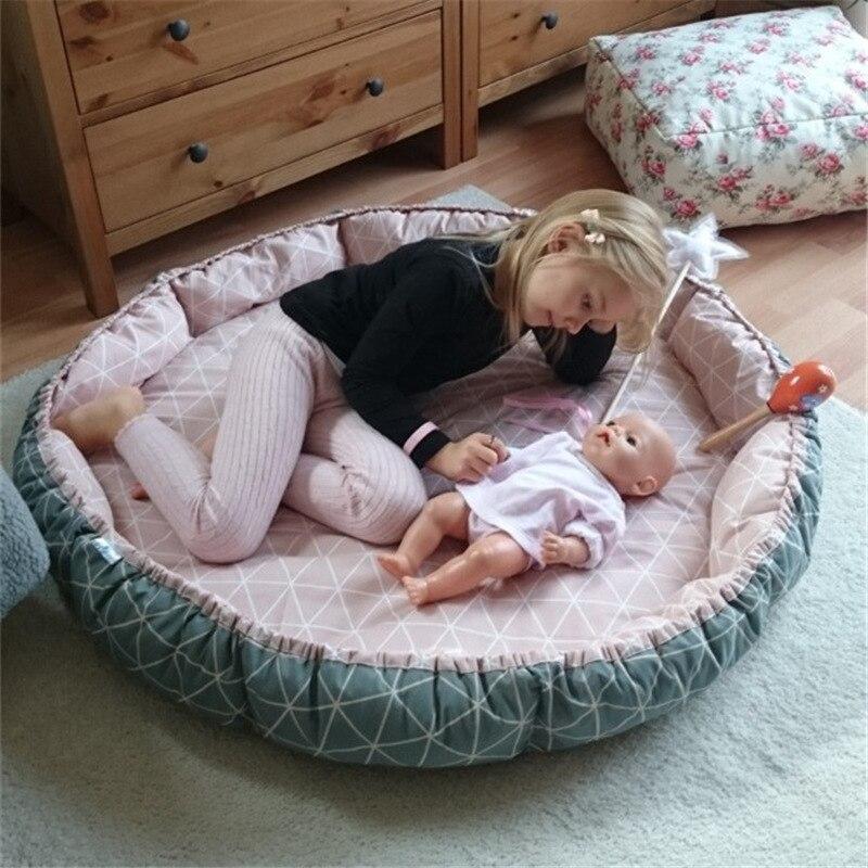 90*10cm Baby Nest Bed Portable Crib Travel Bed Infant Toddler Cotton Cradle For Newborn Baby Cot Bassinet Bumper Basket Kids Bed