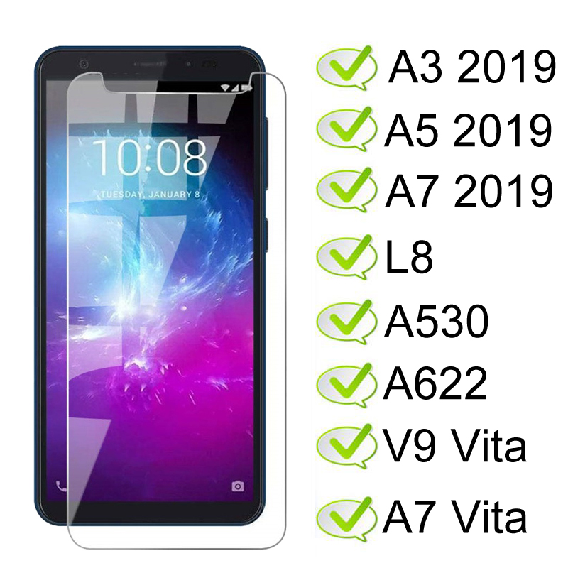 Tempered Glass For ZTE Blade A3 A5 A7 2019 Screen Protector On Blade L8 A530 A622 Protective Glass V9 Vita A7 Vita Screen Glass