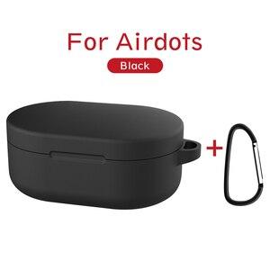 Image 2 - 2019 חדש מקרה כיסוי עבור אדום mi Mi AirDots אוויר נקודות סיליקון מקרה עם אבזם רך TPU אלחוטי Bluetooth מקרי פגז