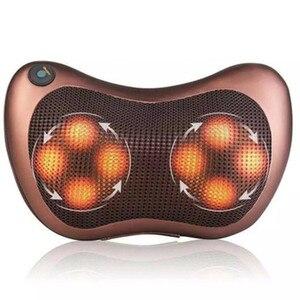 Image 2 - Vip cabeça pescoço massageador carro casa cervical shiatsu massagem pescoço volta cintura corpo elétrico multifuncional massagem travesseiro almofada