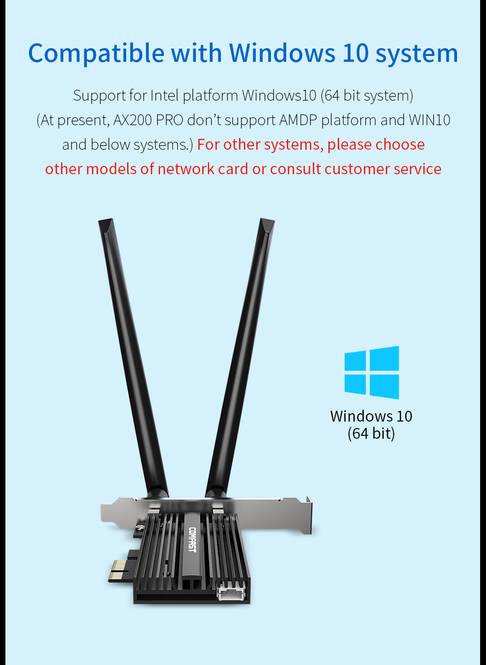 Dual band 3000Mbps Wifi 6 AX200 PRO PCI-E 1X Wireless Adapter 2.4/5Ghz 802.11AC/AX Bluetooth 5.0 Intel AX200NGW Network Card