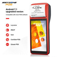 ISSYZONEPOS PDA Android 7.1 Bluetooth Thermal Receipt Printer 58mm 4G WiFi Mobile Order POS Terminal  NFC 1D Barcode Scanner Printers     -