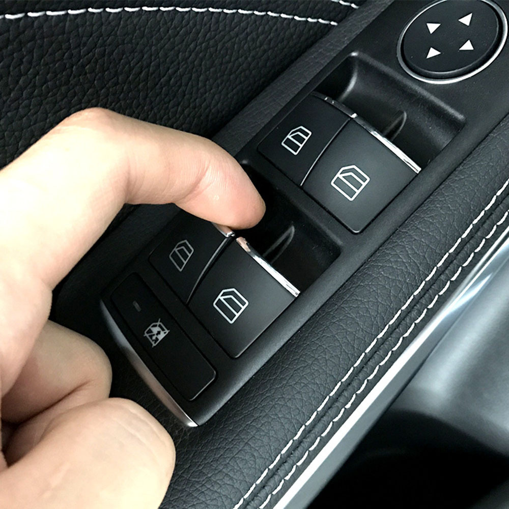 Lift Button Stickers ABS Chrome Trim Cover For Mercedes Benz E W212 C W204 GLK X204 ML GL W166 X166 Car Interior Supplies in Automotive Interior Stickers from Automobiles Motorcycles
