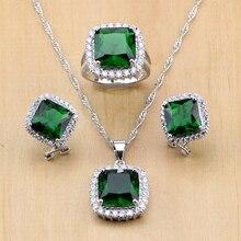 Комплект из колье, серёг и кольца, из серебра 925 пробыjewelry sets for womenzircon jewelry setjewelry sets  АлиЭкспресс