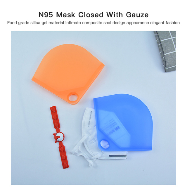 2020 Portable N95 Face Mask Case Dustproof Mask Container Safe Pollution-Free Disposable/N95 Mask Storage Box Storage Organizer