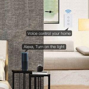 Image 5 - Wifi akıllı işık anahtarı cam ekran dokunmatik Panel ses kontrolü kablosuz duvar çalışma Alexa Echo Google ev 1/2/3/4 Gang