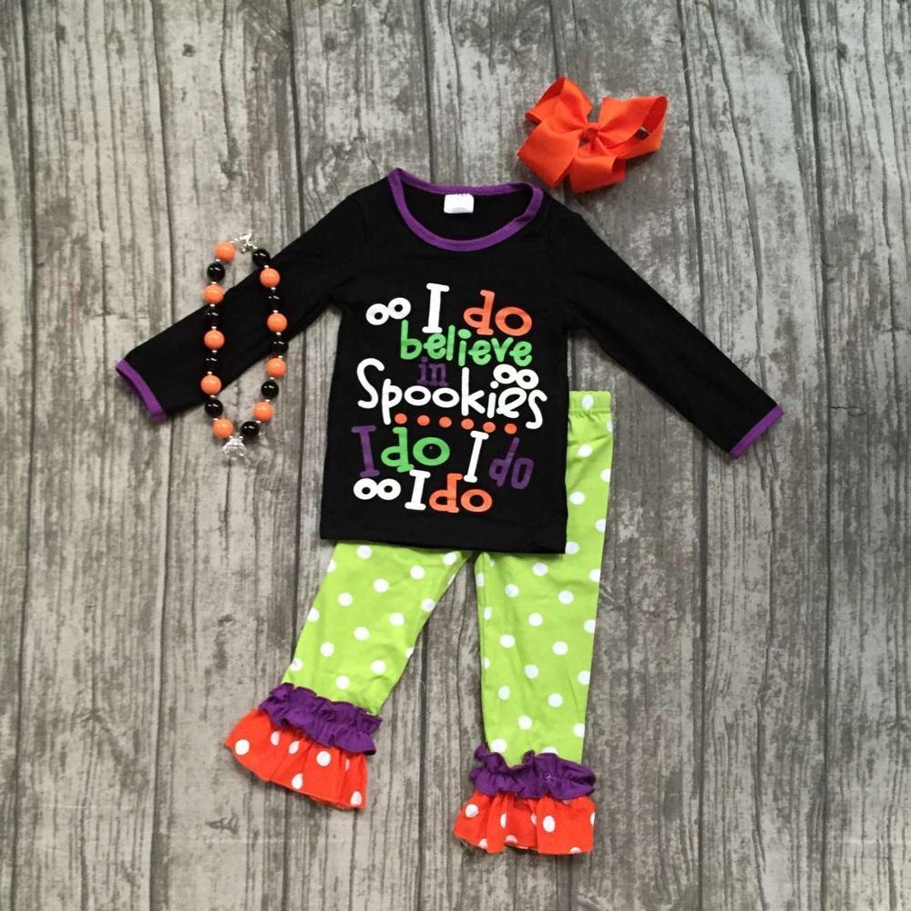Girlymax special offer baby girls fall/winter Halloween children clothes cotton set match accessories 6